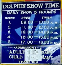 Showtimes and admission fees